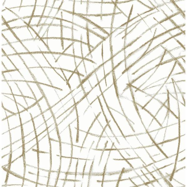 A-Street Willy Nilly Gold Brushstrokes Wallpaper 2902-25505