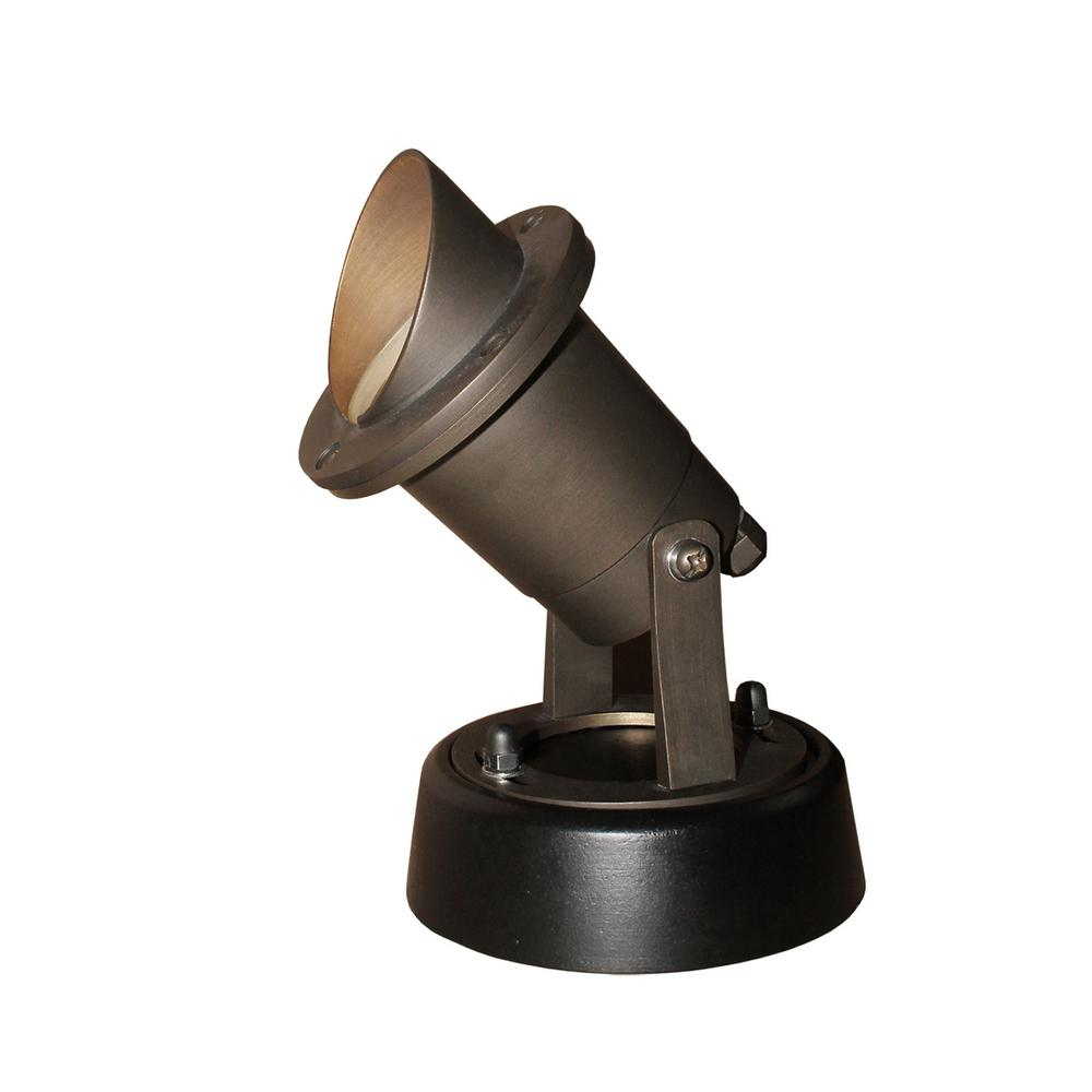 Home Decorators Collection Bronze Outdoor Integrated LED Landscape Well Light