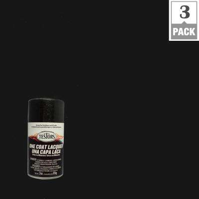 3 oz. Blazing Black Lacquer Spray Paint (3-Pack)