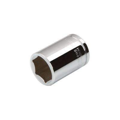 3/8 in. Drive 15 mm 6-Point Shallow Socket