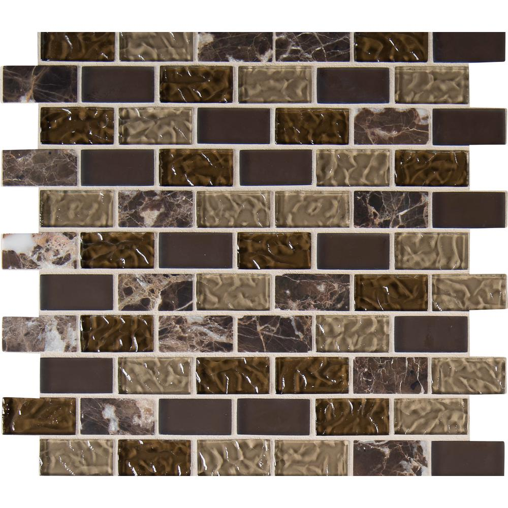 MSI Sonoma Blend 12 in. x 12 in. x 8 mm Glass Stone Mesh-Mounted Mosaic Tile