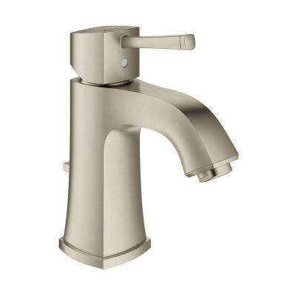 Grandera Single Hole Single-Handle 1.2 GPM Bathroom Faucet in Brushed Nickel InfinityFinish