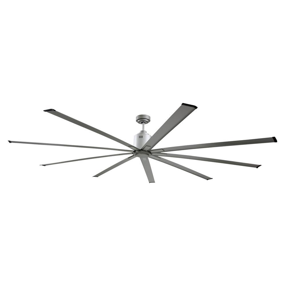 72 in. Indoor Metallic Nickel Industrial Ceiling Fan with Remote Control