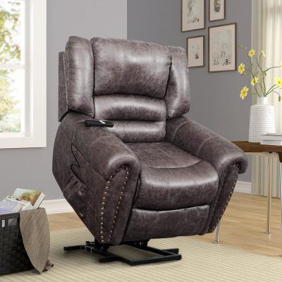 Brown Electric Power Lift Recliner Chair with Remote Controller