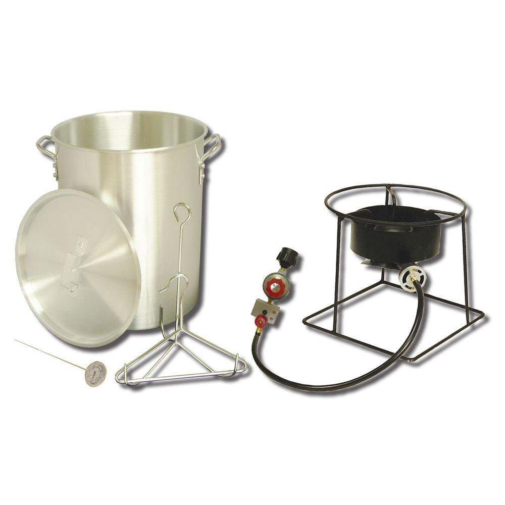 King Kooker 38,000 BTU Propane Gas Outdoor Turkey Fryer with 29 qt. Pot and  Battery
