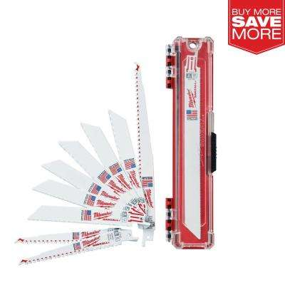 SAWZALL Wood and Metal Cutting Bi-Metal Reciprocating Saw Blade Set (10-Piece)