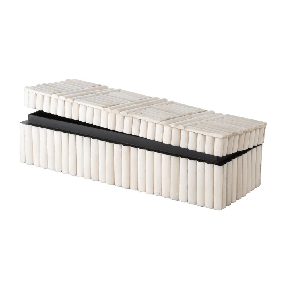 12 in. x 3 in. Bone Rod Pattern Decorative Box
