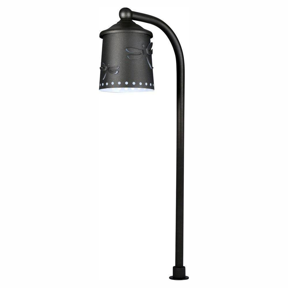 Hampton Bay Low Voltage Black Outdoor Integrated Led Landscape Path Light With Shade Details