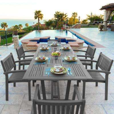 Renaissance 7-Piece Wood Rectangular Outdoor Dining Set