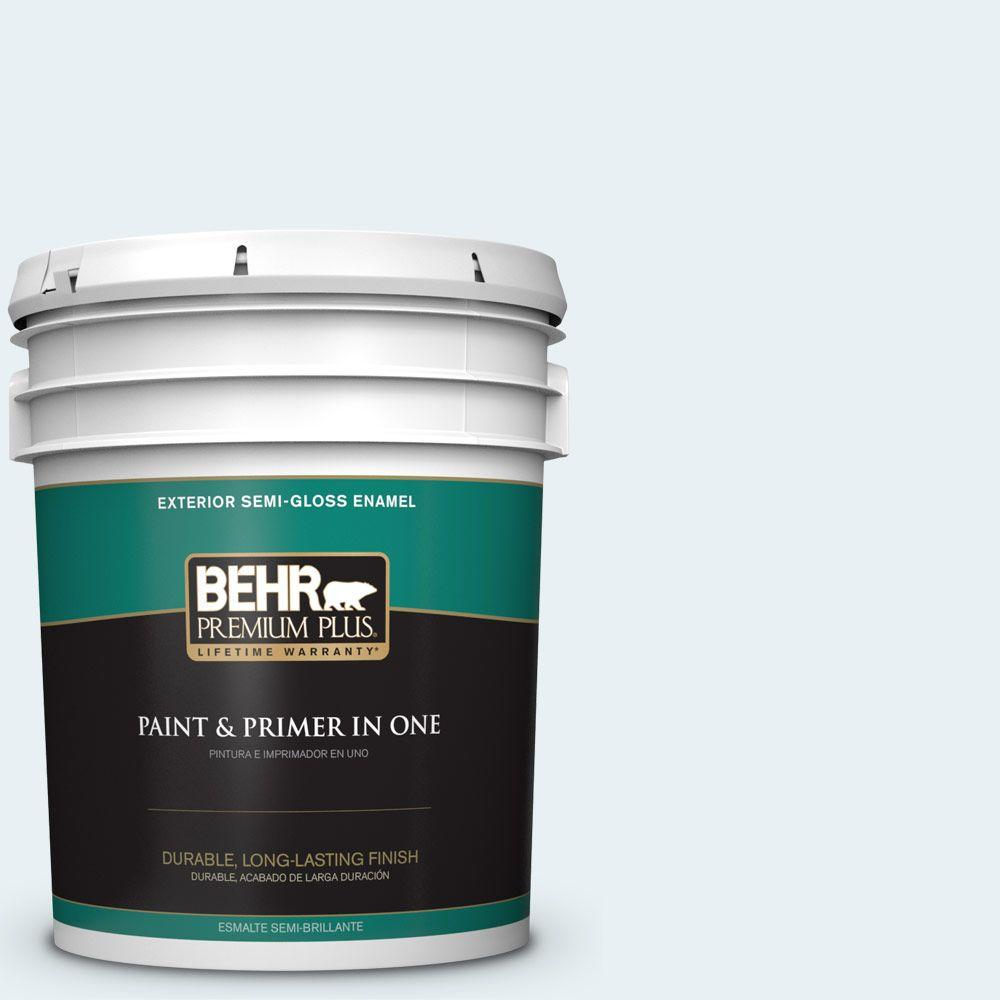 BEHR Premium Plus 5-gal. #550E-1 Breaker Semi-Gloss Enamel Exterior Paint