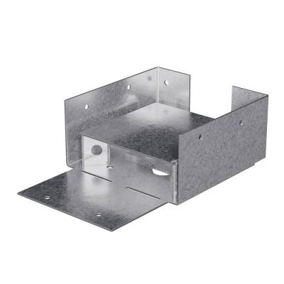 ABW ZMAX Galvanized Adjustable Standoff Post Base for 4x4 Rough Lumber