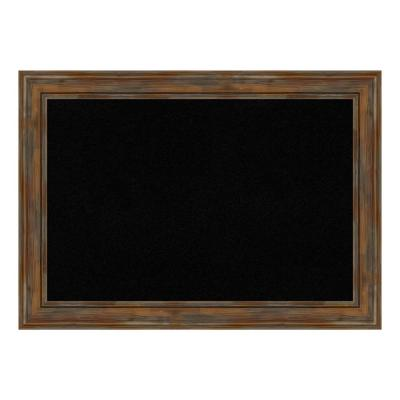 Alexandria Rustic Brown Framed Black Cork Memo Board