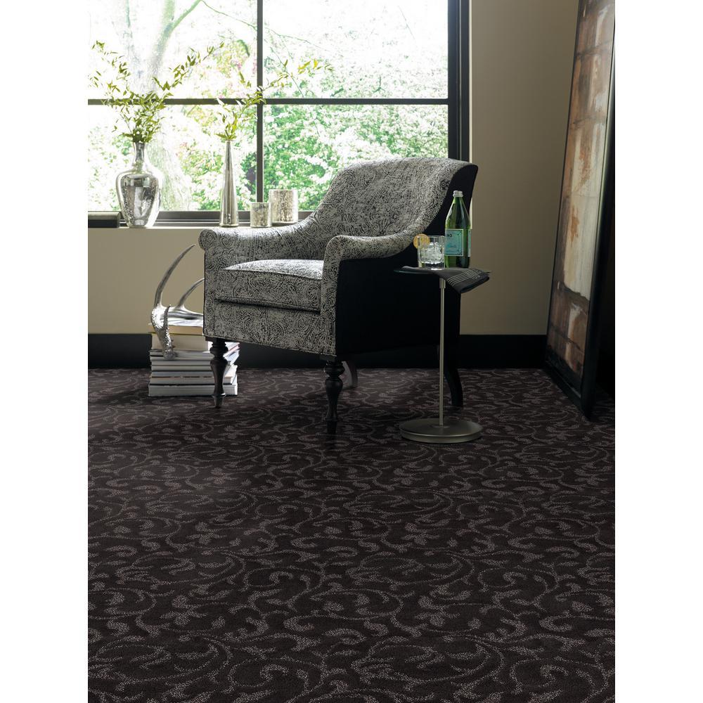 Carpet Sample - Swirling Vines - Color Bit Of Mint Pattern 8 in. x 8 in.