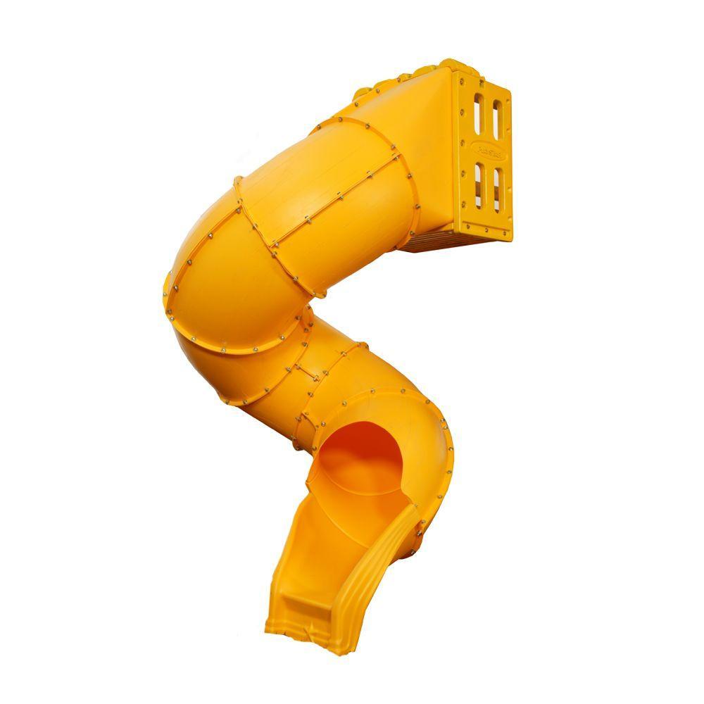 Playstar Spiral Tube Slide, Yellow/Gold