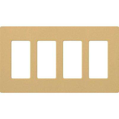 Claro 4 Gang Decorator Wallplate, Goldstone