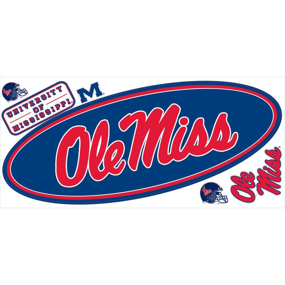 RoomMates University of Mississippi Giant Peel and Stick Wall Decals