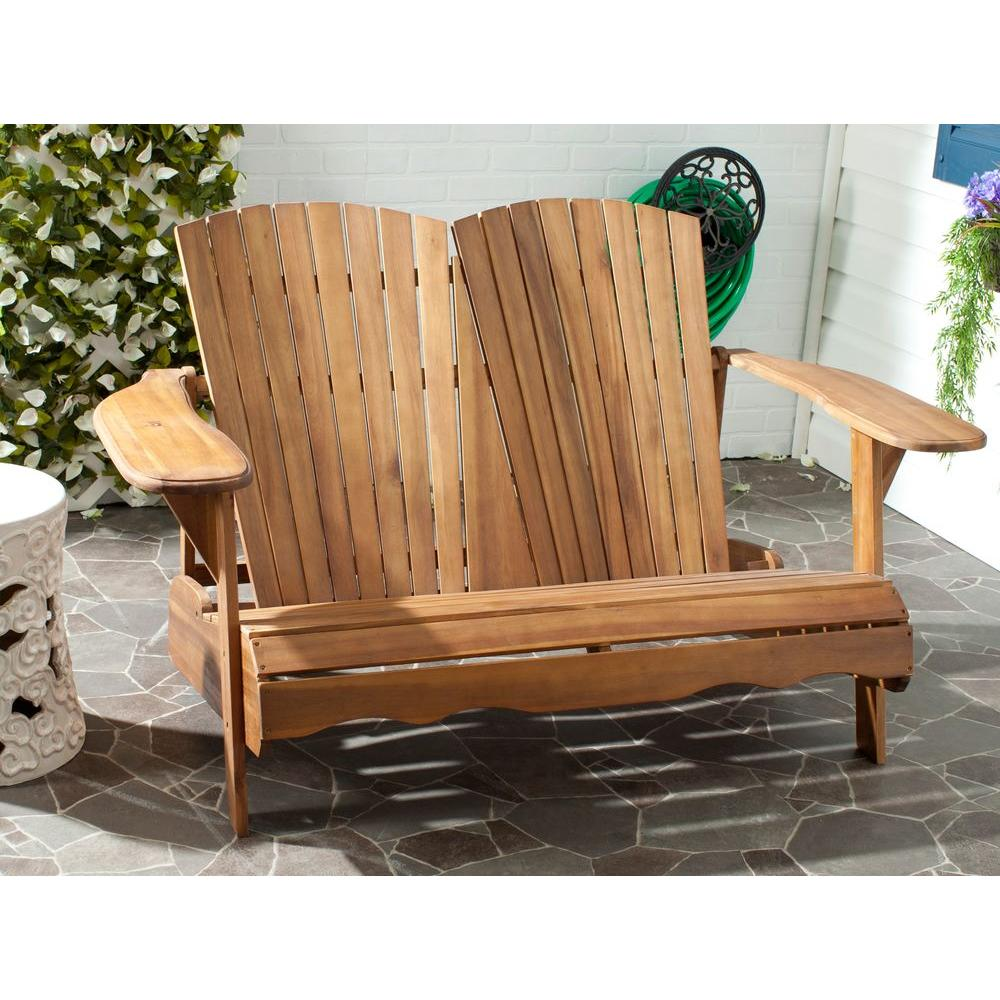 Awe Inspiring Safavieh Hantom Natural Acacia Patio Bench Pdpeps Interior Chair Design Pdpepsorg