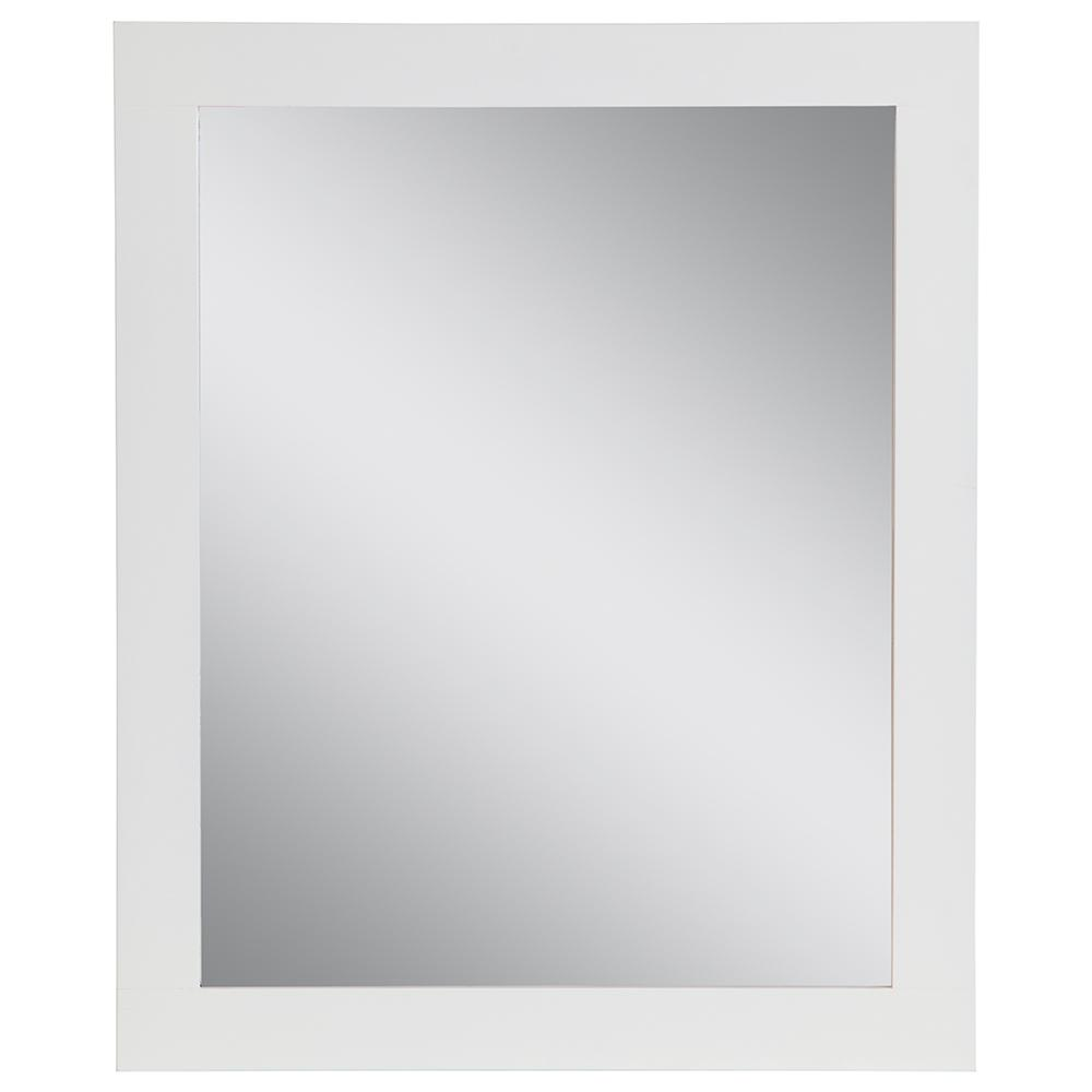 Home Decorators Collection 25.67 in. W x 31.38 in. H Framed Wall Mirror in White