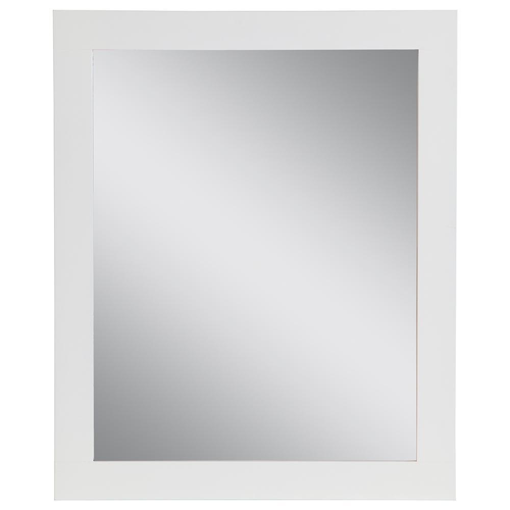 25.67 in. W x 31.38 in. H Framed Wall Mirror in White