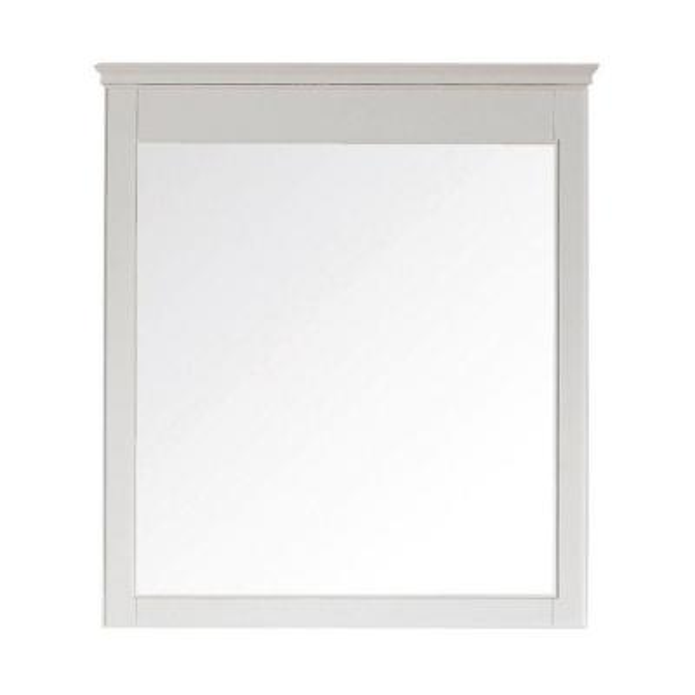 Windsor 18.0 in. W x 26.3 in. H Framed Rectangular Bathroom Vanity Mirror in White