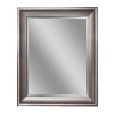 30 in. W x 42 in. H Transitional Wall Mirror in Brush Nickel