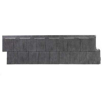 Shake RS - 14.5 in. x 48.75 in. Rough Sawn Shake in Anthracite (48.84 sq. ft. per Box) Plastic Shake Siding