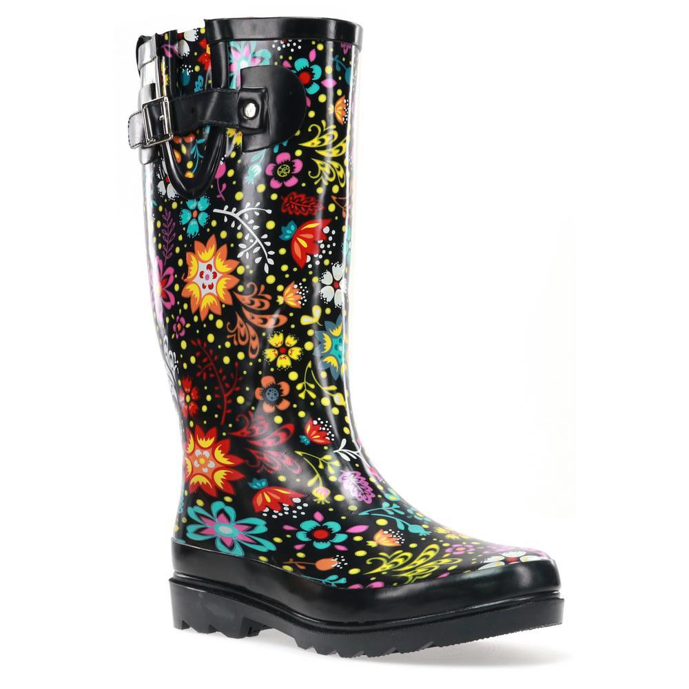 Size 8 Black Garden Play Rubber Boot