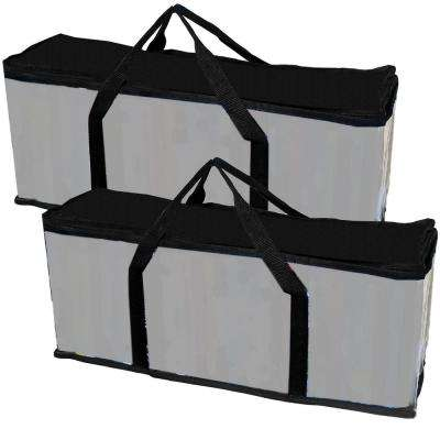 Portable 20 Qt. DVD Storage Tote in Black (2-Pack)