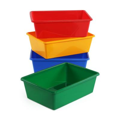 Primary Collection Large Plastic Storage Bins (Set of 4)