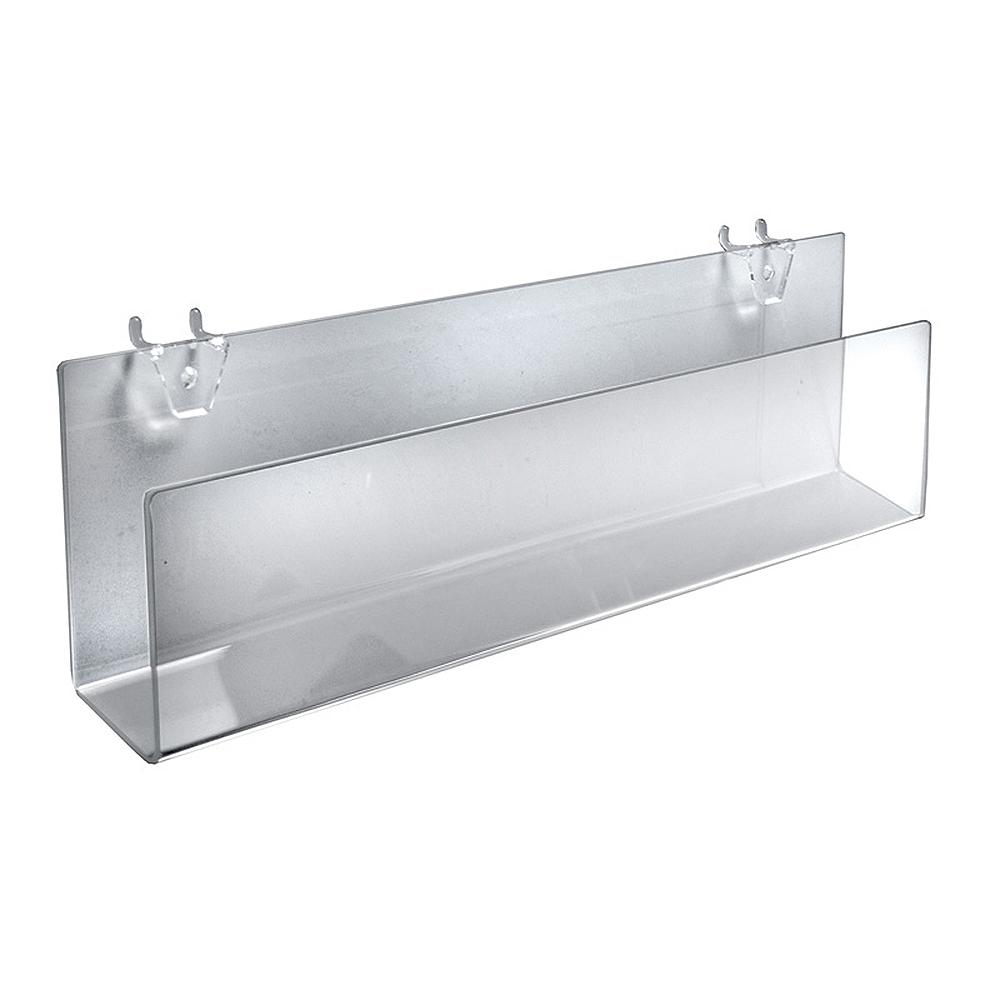 e50930917c259 Azar Displays 16 in. W x 1.5 in. D x 5 in. H Clear Acrylic Holders for  Pegboard or Slatwall (2-Pack)