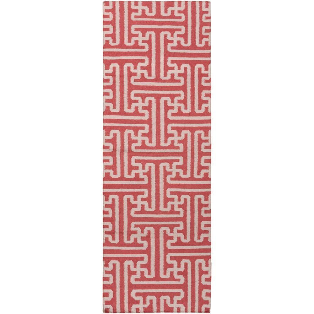 Surya Smithsonian Coral 2 ft. 6 in. x 8 ft. Flatweave Runner