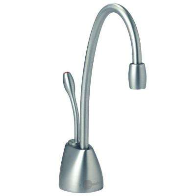 Indulge Contemporary Single-Handle Instant Hot Water Dispenser Faucet in Brushed Chrome