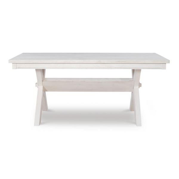 Krause Distressed White Dining Table