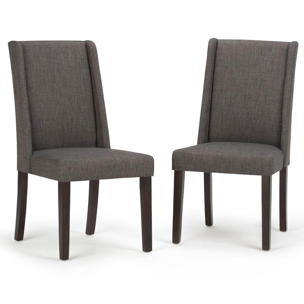 Simply Home Sotheby Slate Grey Dining Chair (Set of 2), S...