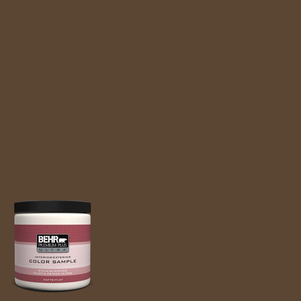 BEHR Premium Plus Ultra 8 oz. #ECC-20-3 Hickory Grove Interior/Exterior Paint Sample