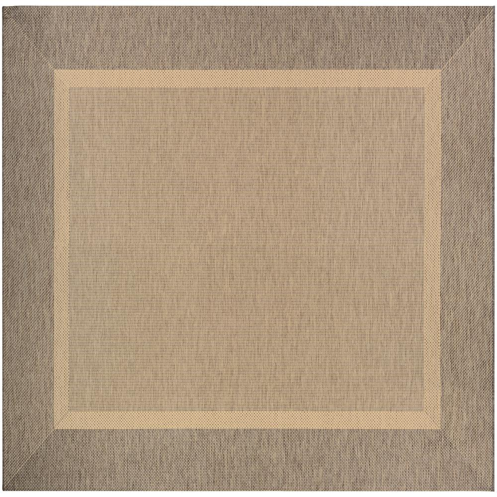 Couristan Recife Stria Texture Natural-Coffee 9 Ft. X 9 Ft