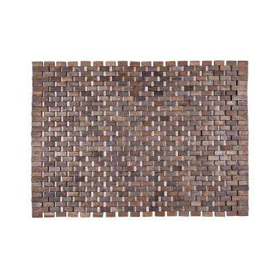Roosevelt Black 18 in. x 30 in. Exotic Wood Mat