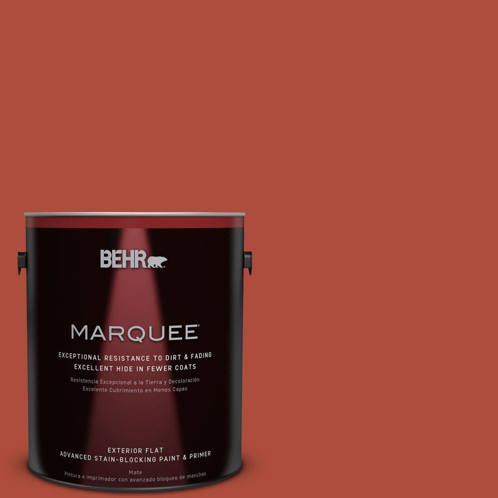 1-gal. #MQ4-35 Torch Red Flat Exterior Paint