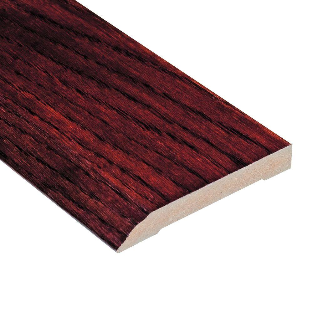 Home Legend High Gloss Teak Cherry 1/2 in. Thick x 3-1/2 in. Wide x 94 in. Length Hardwood Wall Base Molding