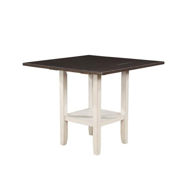 Furniture of America Don White with Espresso Dining Table IDF-3197T