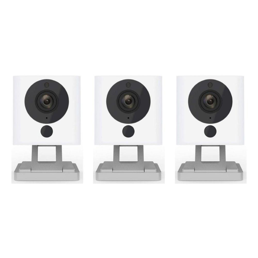 Wyze 1080p WyzeCam HD Wi-Fi Indoor Smart Home Camera, Night Vision, 2-Way Mic, Alexa Ready, Free 14-Day Cloud Drive (3-Pack)