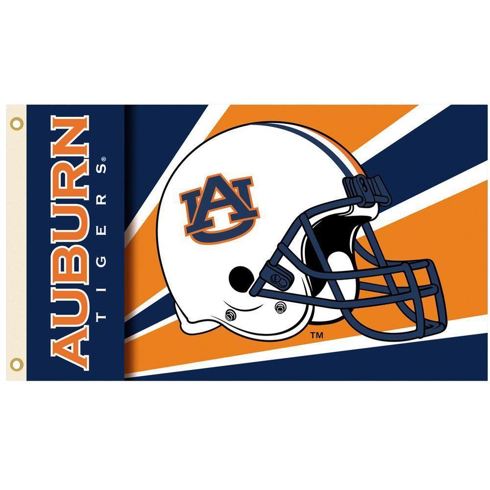 NCAA 3 ft. x 5 ft. Helmet Auburn Flag