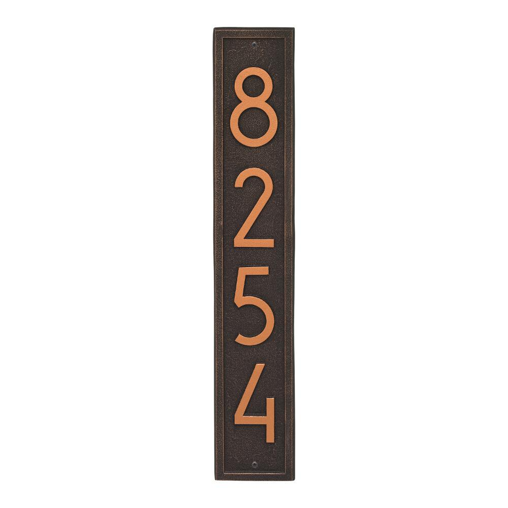 Whitehall Products Vertical Modern Personalized Rectangle Wall ...