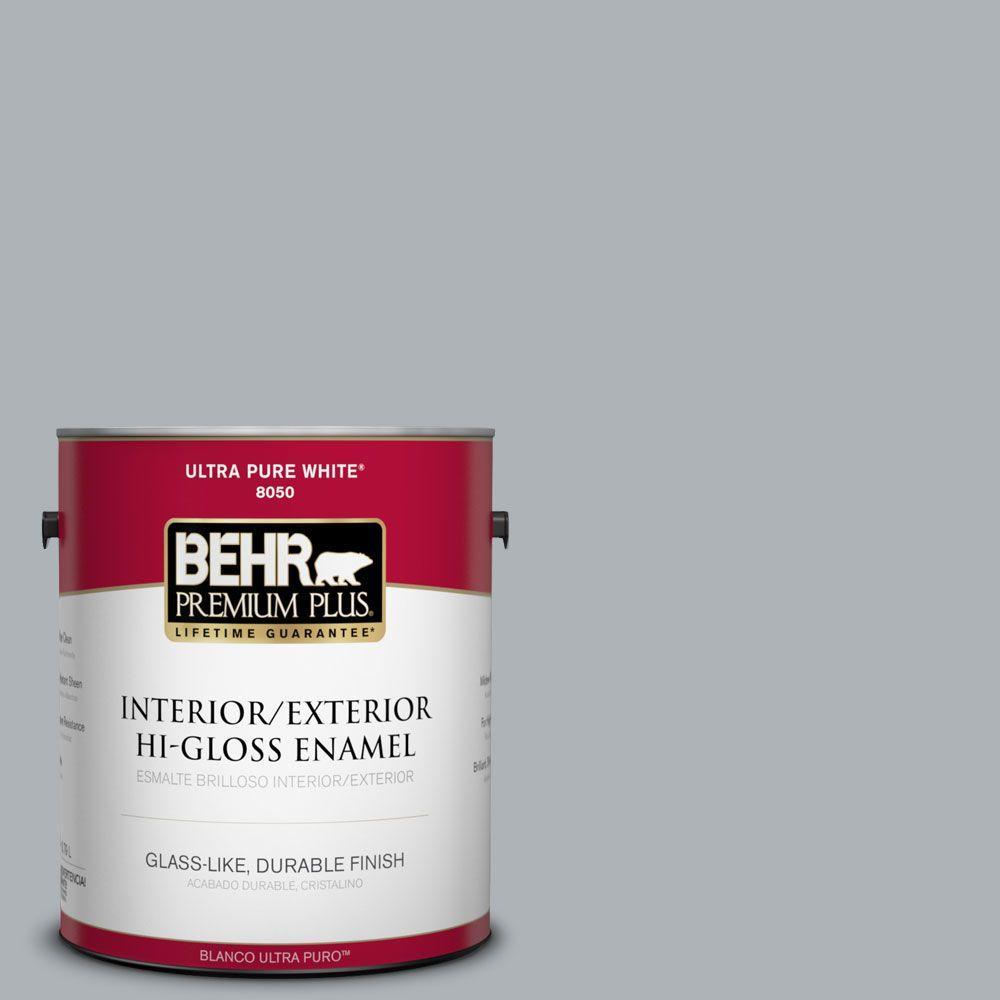 BEHR Premium Plus 1-gal. #N510-3 Stargazer Hi-Gloss Enamel Interior/Exterior Paint
