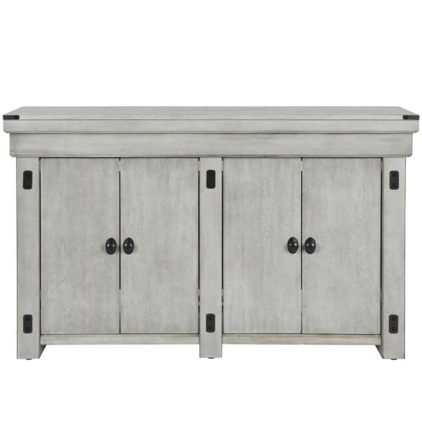 Ameriwood Forest Grove Rustic White 55 Gal Aquarium Stand Hd79118 The Home Depot