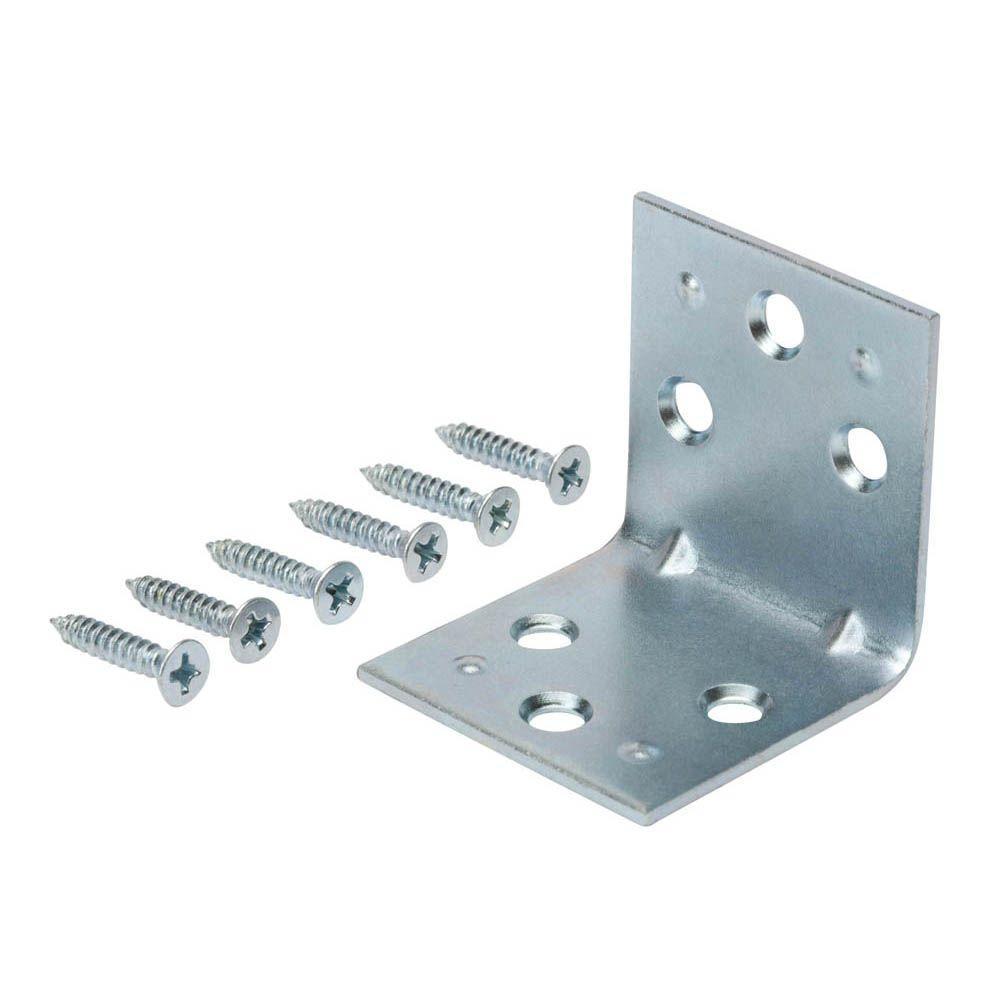 Everbilt 1-1/2 in. Zinc-Plated Double-Wide Corner Brace (2-Piece per Pack)