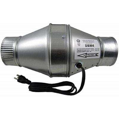 100 CFM Duct Booster Fan for 4 in. Flex or Metal Duct