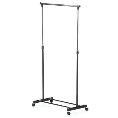 Chrome Steel Adjustable Clothes Rack with Wheels (33 in. W x 65 in. H)