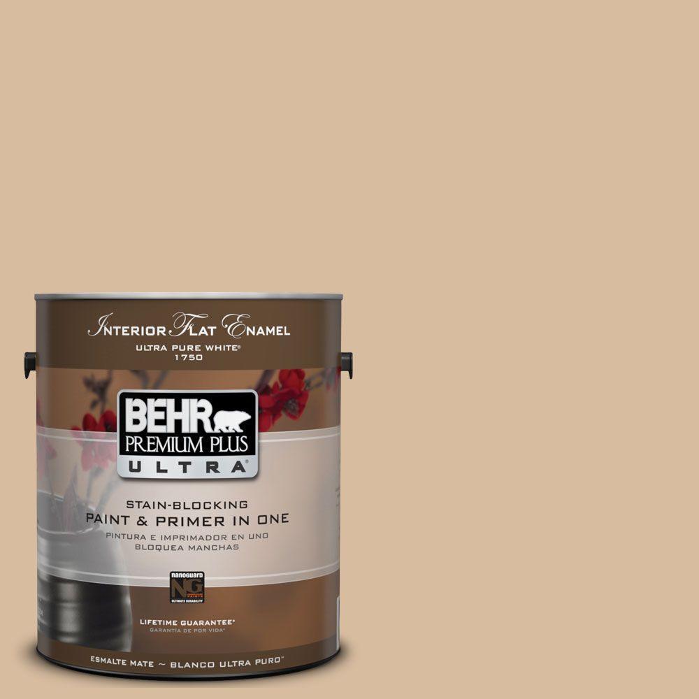 1 gal. #UL140-17 Renoir Bisque Matte Interior Paint and Primer in