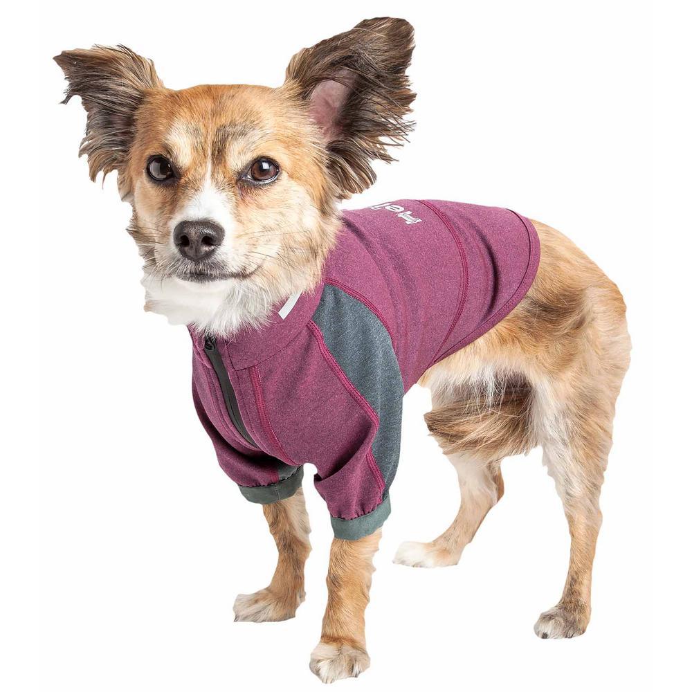 Large Purple Eboneflow Flexible and Breathable Performance Dog Yoga T-Shirt